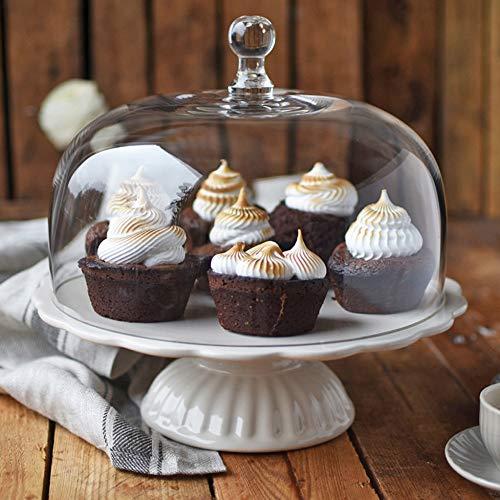 Romantisch: Ib Laursen Tortenplatte Mynte in Butter Cream mit Glashaube, Ø 29 cm