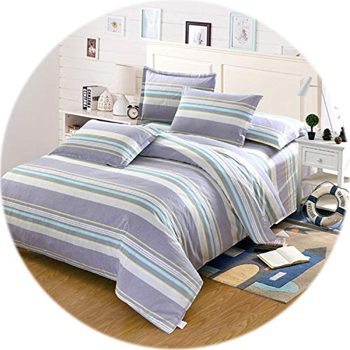 Memoirs- Starry Sky Bedding Set Bed Linen Set AU Style 4/3 pcs Soft Bed Sheet Duvet Cover Single Double Size Navy Blue Bedclothes,Style3,AU King,Fitted Bed Sheet