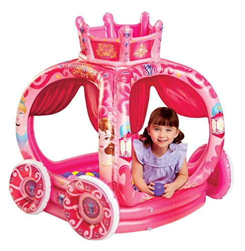 Disney Princess New Fall 2018 Explore Your World Carriage Playland with 50 Sof-Flex Balls Inflatable Ball Pit