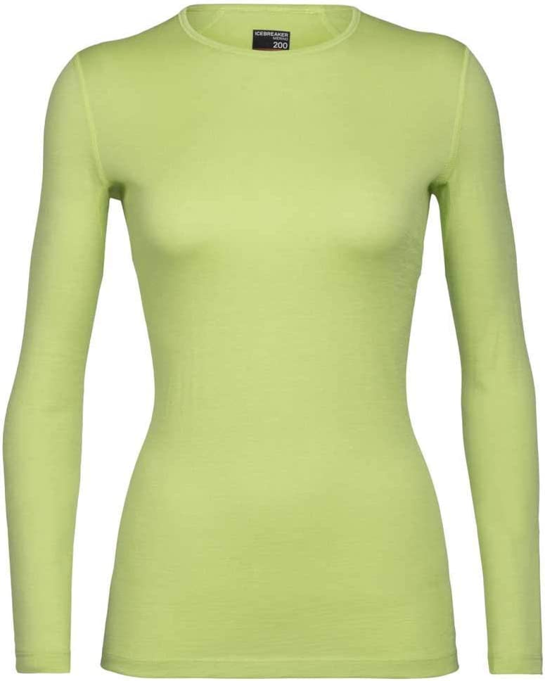 Icebreaker 200 Oasis Long Sleeve Thermal Cold Weather Base Layer T-Shirt 200 Oasis T-Shirt Thermique /à Manches Longues pour Temps Froid Femme