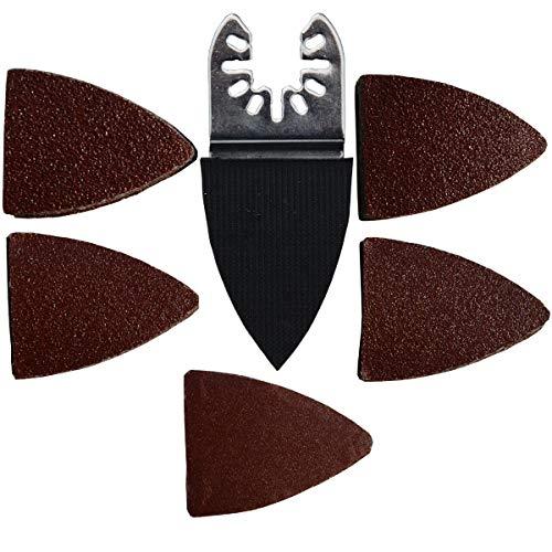 XXGO 51 Pcs Finger Oscillating Multi Tool Sanding Pads Accessories Kits Compatible with Bosch, Chicago, Craftsman, Dewalt, Dremel, Fein, Harbor Freight, Makita, Milwaukee, Porter Cable, Ridgid XG3051A