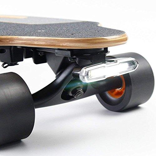 I-Wonder Skateboard-Scheinwerfer und Rücklichter, per USB wiederaufladbare Sicherheitslichter, wasserdichtes LED-Blinklicht, einfach zu installieren, für elektrische Longboards/Fahrräder/Helme