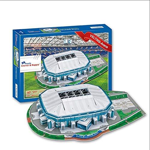 Maiaro Veltins Arena Stadium 3D Puzzle, DIY Copy Football Unterhaltung Veranstaltungsort Spiel, Stadion Architekturmodell, Lernspielzeug