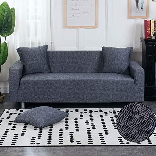 ASCV Funda de sofá elástica Fundas de sofá de algodón Fundas Ajustadas Fundas de sofá Todo Incluido para Sala de Estar Mascotas Funda de sofá A4 3 plazas