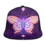 Gorra de béisbol unisex con diseño de mariposa, diseño de cielo estrellado,...