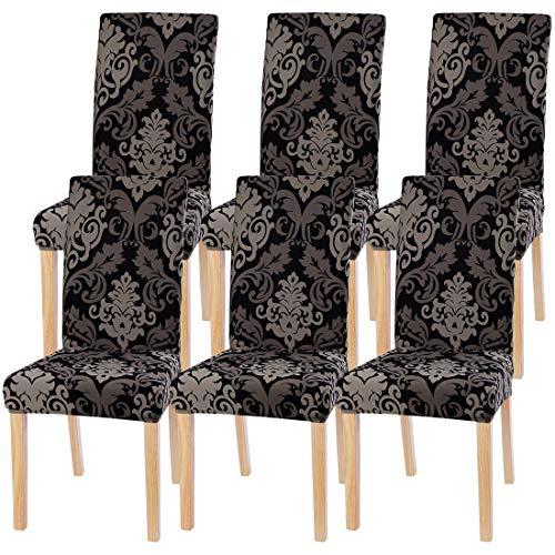 ChicSoleil Stuhlhussen Stuhlbezüge Stretch Esszimmer Sitz Stuhl Abdeckungen Elastische einfarbig modern Stuhlabdeckung...