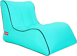 ZED- Sofá Inflable Perezoso sillón Perezoso sofá para Interiores/Exteriores inflables a Prueba de Agua, sofá soplado a Prueba de Agua con botellero, Playa, Parque, Piscina, Picnic (200 KG)