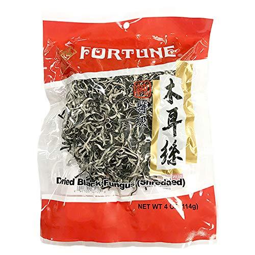 Fortune Dried Black Fungus(Shredded) 4oz. 特級木耳絲 (Pack of 3 )