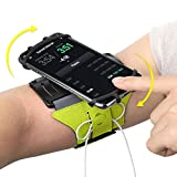 VUP Running Armband for iPhone Xs Max/XS/XR/X/6S/7/8 Plus, Galaxy S10/S9 Plus/S8/ Note 9/8/J7, LG G6/V30, Google Pixel 3/2 XL, 180 Rotatable Cell Phone Holder Arm Band for Gym Workout (Green)