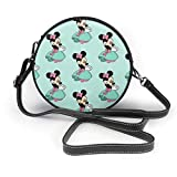XCNGG Borsa piccola per cellulare Minnie Love Flowers Leather Shoulder Bag Travel Daypack Women Girls Party Gift