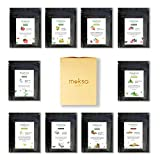 MOKSA Tea and Botanicals 100% Natural Assorted Tea Sampler Pack Black, Green, Detox