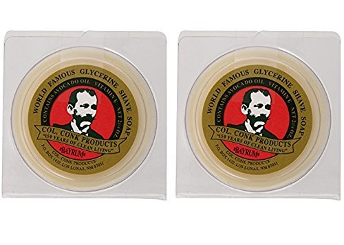 Colonel Conk Worlds Famous Shaving Soap, Bay Rum (Net Weight 4.50 Oz) - Two Pack