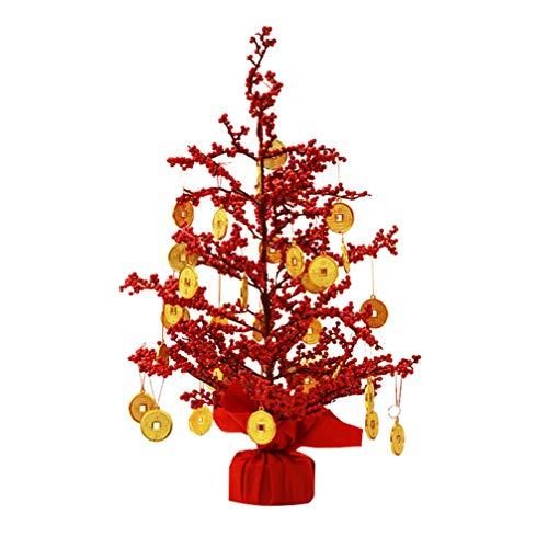 PRETYZOOM Árbol de dinero bonsái Feng Shui con monedas de la suerte, amuleto de la suerte, para casa, salón, mesa, escritorio, oficina, decoración, 2021