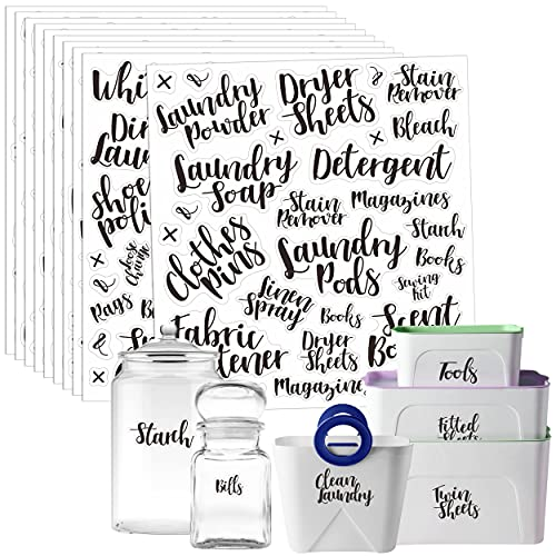 318 PCS Laundry Room & Linen Closet Organization Labels,No Stain Removal, Water/Oil Resistant Stickers for Laundry Room, Linen Closet, Home Office, Bathroom and The Beauty Organization.