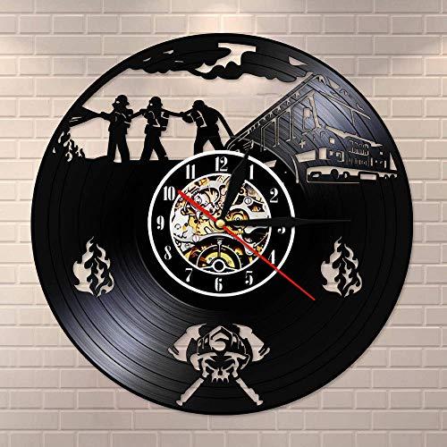 Jiushixw Zombie bombardivisie wandklok fruit grote brassage politie vintage record wandklok zombie horreur Halloween horreur wanddecoratie