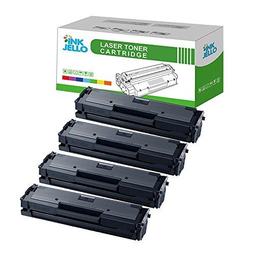 InkJello - Cartucho de tóner compatible para Samsung Xpress SL-M2020 SL-M2020W SL-M2022 SL-M2022W SL-M2026 SL-M2026W SL-M2070 SL-M2070F SL-M2070FW SL-M2070W -MLT-D111S (negro, 4 unidades)