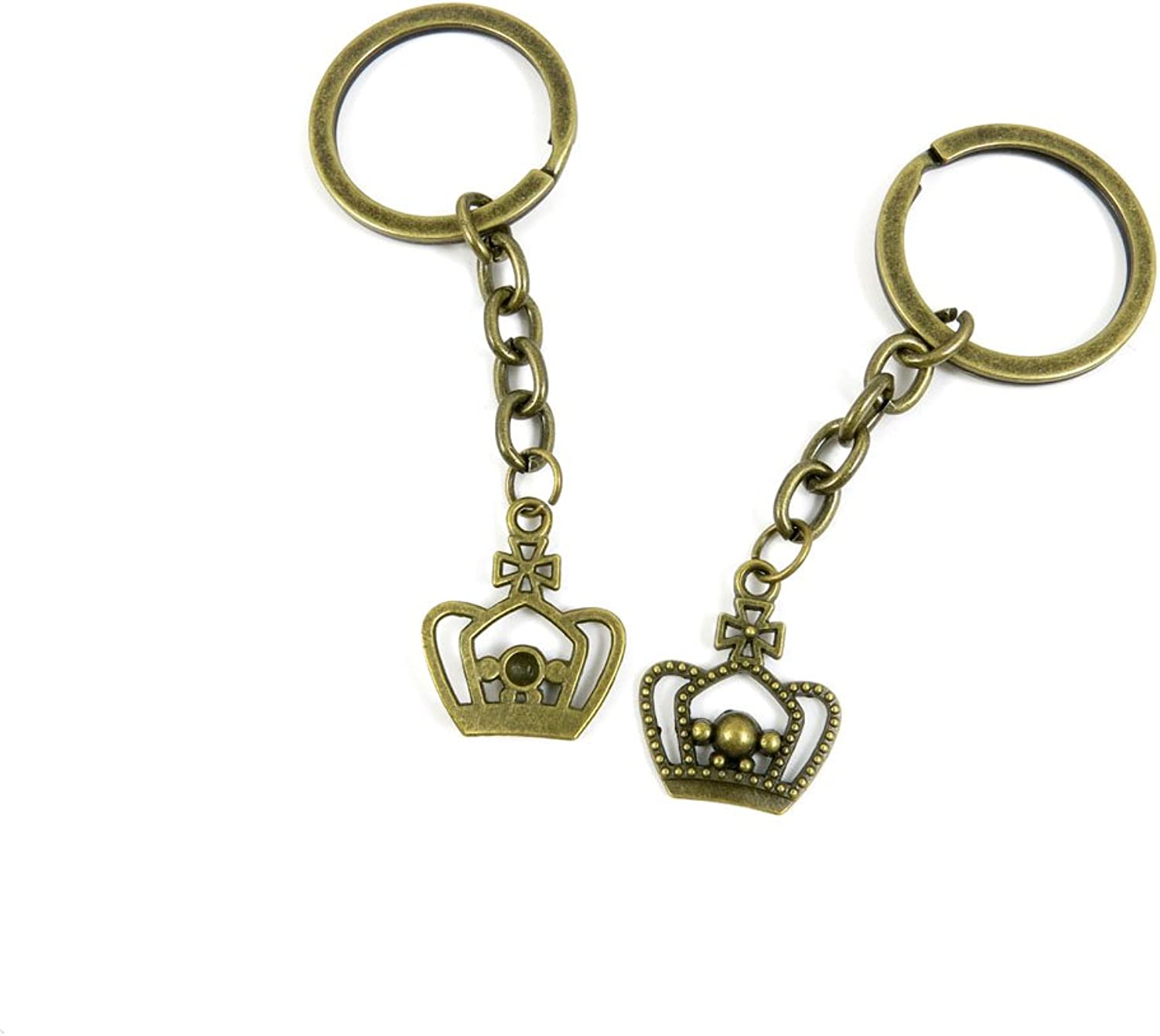 210 Pieces Fashion Jewelry Keyring Keychain Door Car Key Tag Ring Chain Supplier Supply Wholesale Bulk Lots F8TE5 Crown