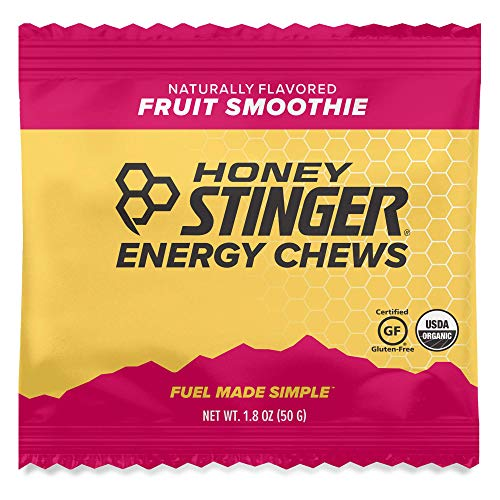 Honey Stinger Organic Energy Chews Fruit Smoothie Sports Nutrition 18 Ounce Pack of 12