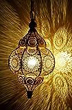 Lámpara de techo moderna turca vintage de aspecto antiguo, oro marroquí para el hogar, farol colgante oriental árabe