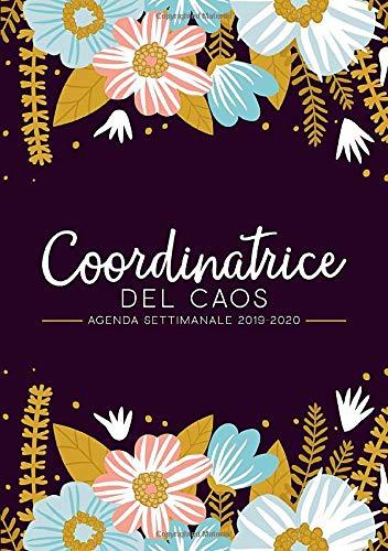 Coordinatrice del caos: Agenda settimanale 2019-2020: 1 luglio 2019 - 30 giugno 2020: Agenda settimanale e mensile, Organizer & Diario: Motivo floreale moderno in rosa, blu e & giallo 3030