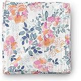Aenne Baby Girl Rose Muslin Swaddle Blanket Floral Orange Pink Tropical Large 47 x 47 inch, 1 Pack, Toddler Blanket Nursing Cover, Newborn Wrap
