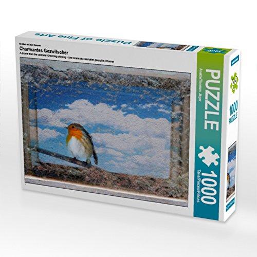 CALVENDO Puzzle Charmantes Gezwitscher 1000 Teile Lege-Größe 64 x 48 cm Foto-Puzzle Bild von Anette/Thomas Jäger