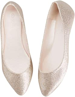 Allover Glitter Pointed Toe Flats Style Antonia