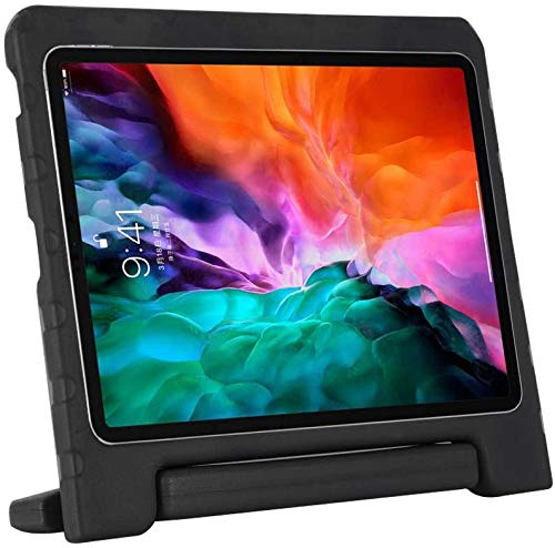 Golden Sheeps Kid Friendly Case Compatible for LG G Pad 5 10.1 inch 2019 T600 T605 Shockproof Ultra Light Weight Convertible Handle Stand Cover (Black)