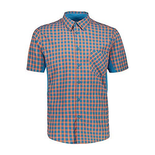 CMP Camicia Slim Fit Ad Asciugatura Rapida Coolmax Chemise Homme, Flash Orange-Rif, 56