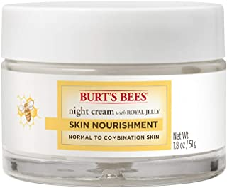 Burt's Bees Skin Nourishment Night Cream for Normal to Combination Skin – 1.8 Ounces