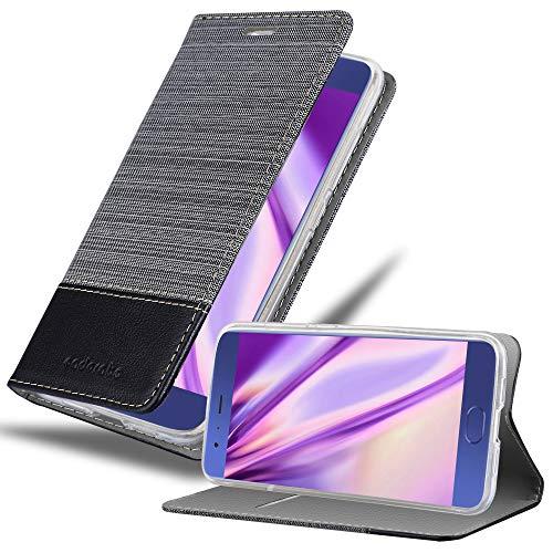 Cadorabo Funda Libro para Xiaomi Mi 6 en Gris Negro - Cubierta Proteccíon con Cierre Magnético, Tarjetero y Función de Suporte - Etui Case Cover Carcasa
