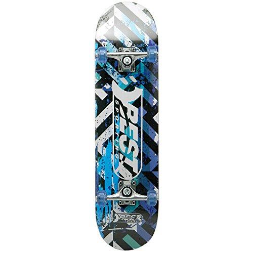 Best Sporting Skateboard, ABEC 7, max. Belastung 100 kg, Farbe:blau/schwarz