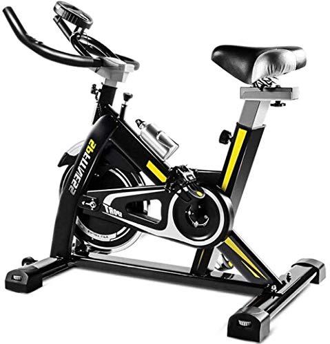 Bicicleta estática Health & Fitness Bicicleta de ciclismo interior con transmisión por correa magnética con volante de inercia de 11 KG y soporte de dispositivo grande para entrenamiento en casa