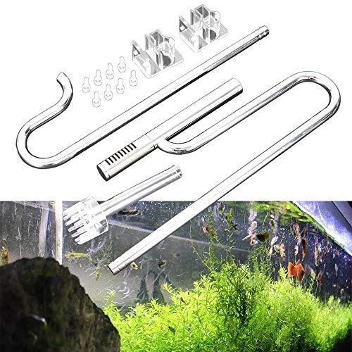 OUKANING 16mm Aquarium Wasseroberfläche Skimmer Filterrohr Edelstahl Einlauf Auslauf Wasserleitung (16mm)