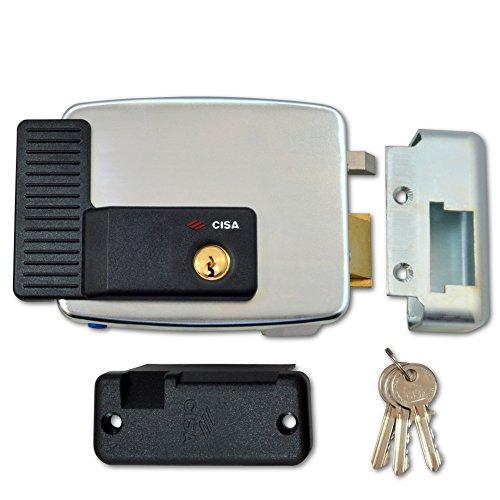 Cisa 11921-60-3 Serratura elettrica per porte in acciaio, apertura verso l'esterno, senza pulsante