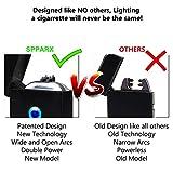 SPPARX USB Lichtbogen Feuerzeug – wiederaufladbares Plasmafeuerzeug - 4