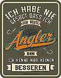 empireposter Angeln - Bester Angler - Blech-Schild Spruch - Blechschild - Grösse 17x22 cm