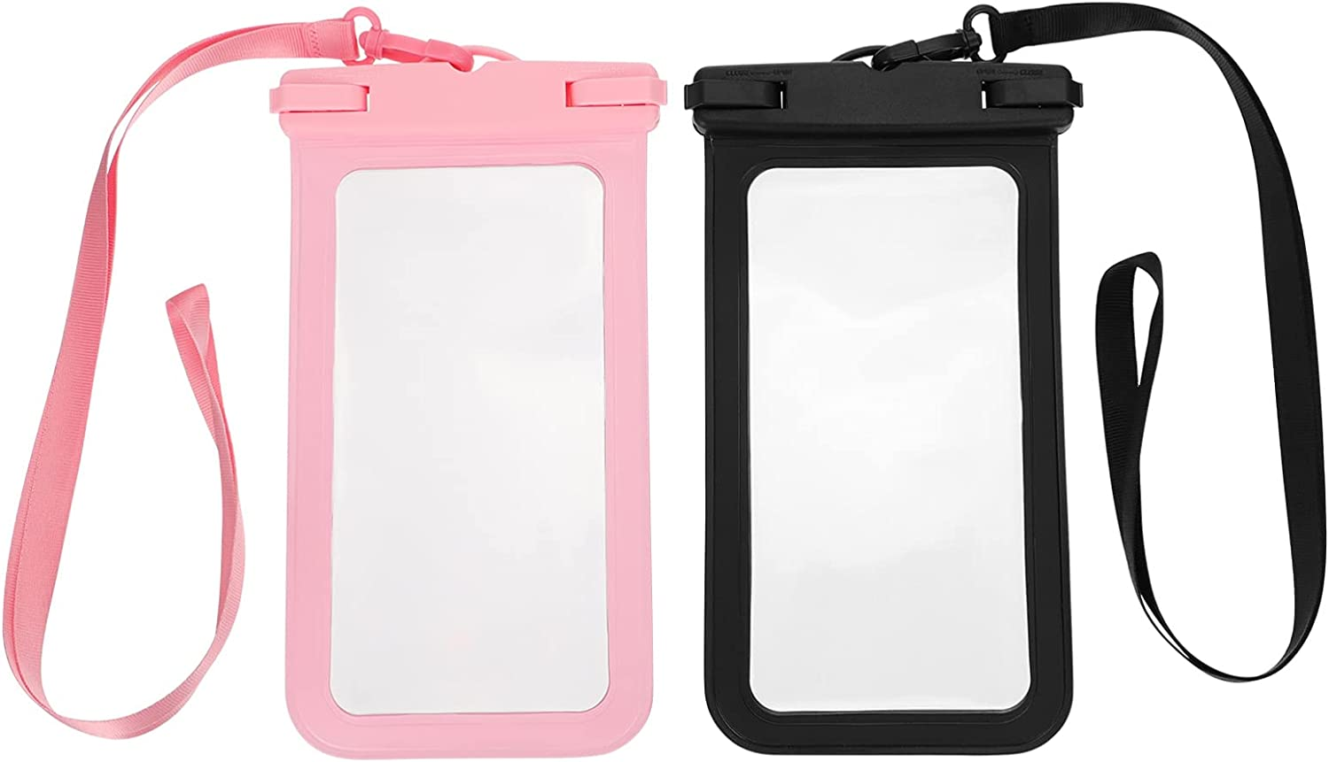 BESPORTBLE 2Pcs Waterproof Phone Pouch Floatable Universal Cellphone Dry Bag Touch Screen Beach Underwater Phone Case with Lanyard for All Phones