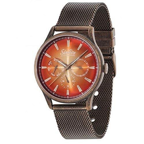 Sixties Armbanduhr Unisex – Quarz Klassische Herrenuhr und Damenuhr analog und wasserdicht mit Edelstahlarmband Exklusiver 60er Jahre Stil für Modebewusste