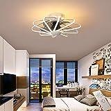 CAGYMJ Ventilador De Techo con Iluminación De Techo LED Luz Velocidad del Viento Ajustable Control Remoto Ultra Silencioso Ventilador De Tiempo Candelabros Luces De Ventilador De Dormitorio,Blanco