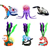 Jiffi Swimming Pool Toys Light-up Diving Toys for Pool Games, Summer Outdoor Water Toys for Kids Boys Girls, Pack of 6, Glow Swimming Toys, Battery-Powered, Safe Bath Toys, Ideal Pool Party Toy