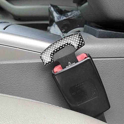 CARBON FIBER SEAT BELT BUCKLE ALARM STOPPER NULL INSERT Fit For Chevrolet