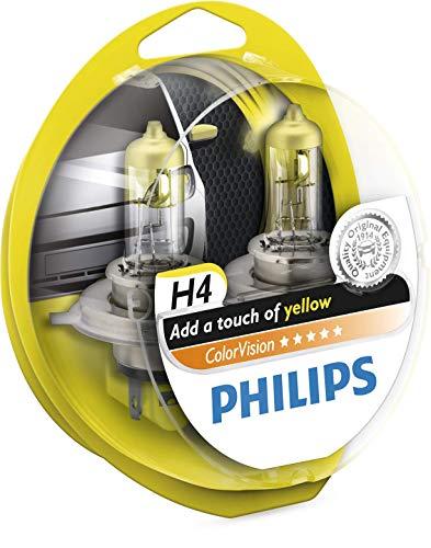 Philips Automotive Lighting 12342CVPYS2 ColorVision H4 36789828 2 Lámparas para Faro, Color Amarillo