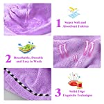 Beauty Shopping Microfiber Hair Towel Wrap Turban, UQXY Super Absorbent Anti-Frizz Hair Drying Towels