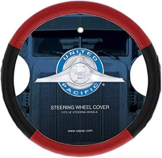 """United Pacific 70409 18"""" Carbon Fiber Style Steering Wheel Cover"""