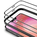 TAMOWA Vetro Temperato per iPhone 12 Pro/iPhone 12(2 Pezzi), 3D Copertura Completa Pellicola Protettiva in Vetro Temperato per iPhone 12 Pro/iPhone 12, Telaio di Installazione Incluso, Anti-Graffi