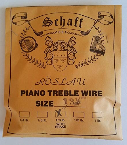 Learn More About Schaff Roslau Piano Music Treble Wire Size 13-1/2 .032 1/3 Lb Coil 122′ with Brake