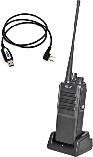 HYS UHF 400-480MHz 10W Two Way Radio Handheld Transceiver Long Distance Rechargeable Amateur Ham Radio with USB Programmin...