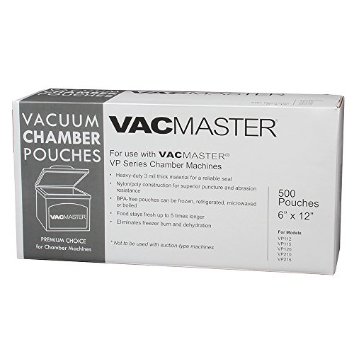 VacMaster 40721 3-Mil Vacuum Chamber Pouches, 6-Inch by 12-Inch, 500 per Box