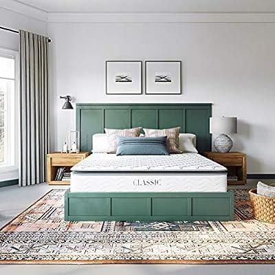 Classic Brands Serena Pillow Top Innerspring 10-Inch Mattress | Bed-in-a-Box Queen